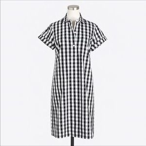J. Crew Factory Gingham Check Jcrew Dress